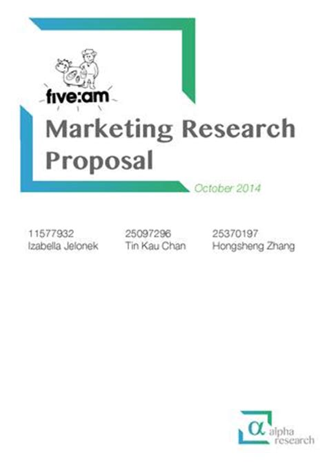 Advertising research proposal sample